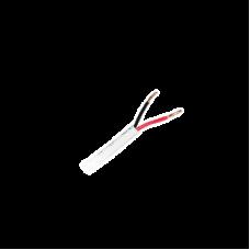 Bobina de 305 metros de Alambre, , 22 AWG, 2 Conductores, tipo CM-CL2,de Color Blanco para aplicaciones de alarmas de Intrusión / Automatización.