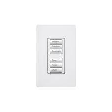 Botonera con 6 botones, 3 para switch on/off y 3 para atenuadores (dimmer).
