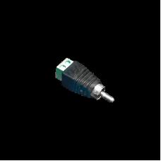 Adaptador RCA Macho para Video o Audio. Con terminal atornillable.