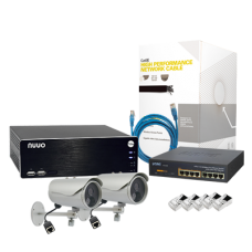Sistema Completo Megapixel con ACTi D32, Cable y Switch PoE