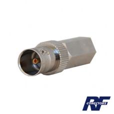Conector BNC Hembra para cable coaxial RG-11, 75 Ohms