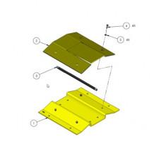 Adaptador de picos para barrera 1603-180 / Permite agregar hasta 4 secciones de 90 cm de picos poncha llantas a la barrera DKS 1603-180
