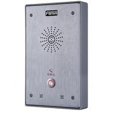Intercomunicador IP, 2 líneas SIP, 2 relevadores con botón para llamada, anti-vandálico, IP65 e IK10, PoE