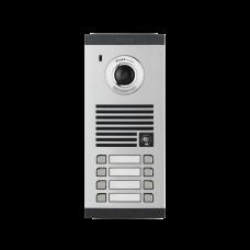 Frente de calle para 8 Apartamentos, compatible con monitores de 4 hilos, expandible a 20 o 32 deptos.