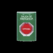 Botón de Salida de Emergencia en Español, Acción Mantenida, Girar para Restablecer y LED Multicolor
