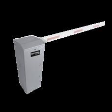 Barrera vehicular derecha / Soporta brazo de hasta 3 m / Apertura en 1.5 s /Final de carrera ajustable por programación / Movimiento fluido / Diseño elegante color gris