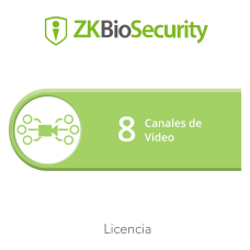 Licencia para ZKBiosecurity para modulo de video hasta 8 canales de video