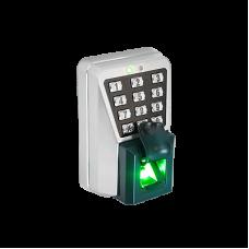 Lector IP de Huella y Proximidad con Teclado Antivandálico para Exterior. Integración Directa con software de control de acceso Command Center para una Administración Fácil y Eficiente.