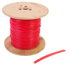 Bobina de cable de 305 metros, calibre 16 con 2 conductores, tipo FPLR-CL2R, para aplicaciones en sistemas de detección de incendio y sistemas de voceo