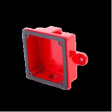 Caja para montaje de campana para alarma de incendio, en exterior