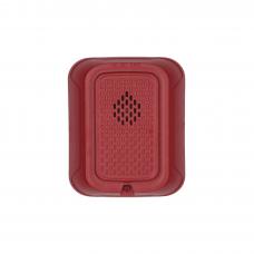 Sirena para Montaje en Pared, 12 a 24 Vcd, Color Rojo, Nuevo Diseńo Moderno y Elegante y Menor Consumo de Corriente