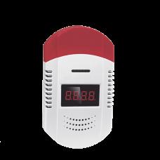 Detector convencional de monóxido de carbono compatible con todos los paneles de alarma