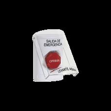 Botón de Salida de Emergencia con Sirena y Tapa Protectora de Policarbonato Súper Resistente, Restablecimiento con Llave