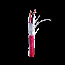 Bobina de alambre de 305 metros de 2 conductores calibre 16 de color rojo para aplicaciones de sistemas de detección de incendio y sistemas de evacuación.