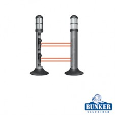 Carcasa Bunker tipo lámpara de guardia para alojar fotoceldas de doble rayo infrarrojo.