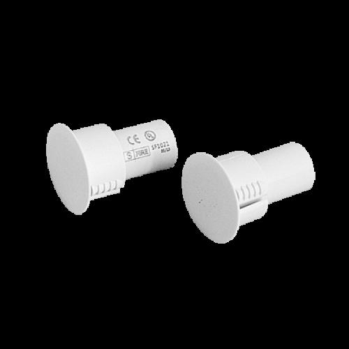 Contacto magnético UL CE para puertas y ventanas  Metálicas, aluminio y madera de empotrar color blanco