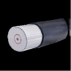 Cable coaxial (impedancia 50 Ohms). Aislamiento Espuma dieléctrica de baja densidad, diámetro exterior 27.7 mm.