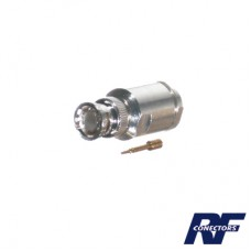 Conector BNC Macho para cable BELDEN 9913, 7810A, 8214; ANDREW CNT-400; SYSCOM RG8/U-SYS, RFLASH-1113.
