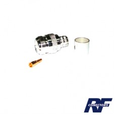 Conector N Hembra para cable BELDEN 9913, 7810A, 8214; ANDREW CNT-400; SYSCOM RG8/U-SYS, RFLASH-1113.