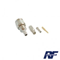 Conector Mini UHF Macho para cable RG-174/U.