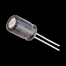 Capacitor Electrolítico de Aluminio de 220 µFd a 63 Vcd.
