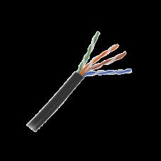 5 metros de cable Cat5e con gel para exterior, color Negro, para aplicaciones en sistemas de redes de datos y cableado estructurado.Uso intemperie.
