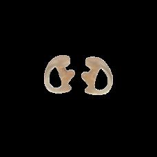 insertos de oidos flexibles abiertos transparente hipoalergenico chico
