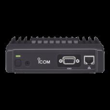 Radio móvil de datos ICOM, Rx-Tx: 136-174MHz, 25W, puerto de conexión RS232, y puerto ethernet, transferencia de datos 4-level-FSK, velocidad de transmisión datos 9600bps-4800bps.  Incuye cable de corriente y bracket.