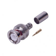 BNC macho con anillo plegable para cable PROFLEX, RG-59, 75 Ohms, 28 mm.