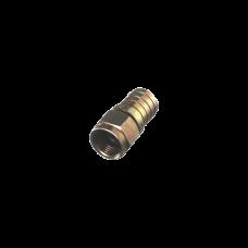 Conector F Macho Plegable para Cable RG-6/U, Niquel / Niquel / Polietleno.