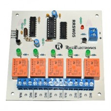 Tarjeta decodificadora para radio switch 5 zonas con DTMF.