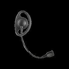 Auriculares con aro en forma de D con cable de fibra trenzada y conector SNAP. Requiere micrófono de solapa de 1 o 2 hilos de la Serie SNAP.