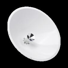 Antena direccional de 1 ft, frecuencia de (4.9 a 6.1 GHz), Ganancia de 24.5 dBi, Soporte de acero inoxidable, polaridad en 90 y 45°, incluye montaje y radomo.