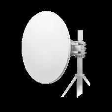Antena direccional de 3 ft, frecuencia de (4.9 a 6.1 GHz), Ganancia de 32 dBi, Soporte de acero inoxidable, polaridad en 90° y 45°, incluye montaje.