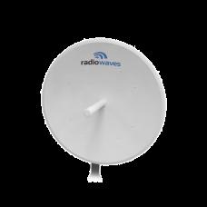Antena direccional, Dimensiones (4 ft), 5.25-5.85 GHz, 2 Conectores N-hembra, Ganancia 35dBi, Montaje incluido