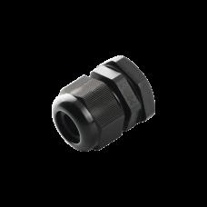 Conector Plástico Negro Tipo Glándula para Cable de 10 a 14 mm de Diámetro.