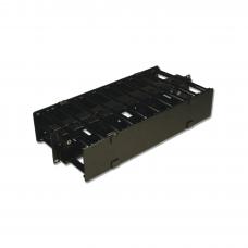 Organizador de Cable Horizontal RouteIT, Doble, Para Rack de 19in, 4in de profundidad, 2UR