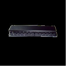 """Organizador de cables horizontal 19"""" con cubierta metálica, 2U."""
