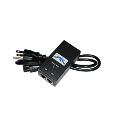 Adaptador de Power over Ethernet (PoE) para equipos UBIQUITI de 15 Vcc.