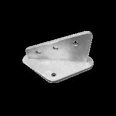 Ancla Aleta de 3 Orificios con 2 Puntos de Fijación. Uso en Fijación de mástiles. Galvanizado por Inmersión en Caliente.