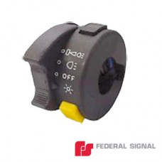 Interruptor de 4 posiciones para fácil manejo de luces y sirena de motocicleta.