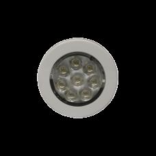 Mini luz de cortesía circular con bisel blanco