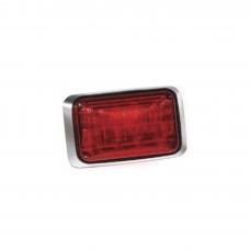 Luz de advertencia Quadraflare LED, Mica color Rojo y LED Rojo