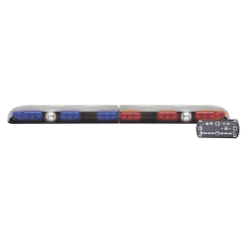 Barra de luces Vantage PRO Ultra Brillante con 62 poderosos LEDs última generación, color Rojo/Azul