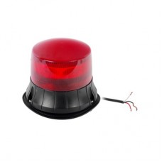Burbuja LED giratoria color rojo, 9 LEDs, montaje permanente