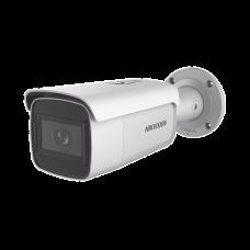 Bala IP 8 Megapixel (4K) / 50 mts IR EXIR / Exterior IP67 / WDR 120 dB / PoE+ / Audio y Alarmas / Lente Mot. 2.8 a 12 mm / Videoanaliticos Integrados