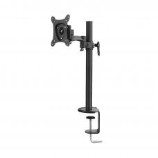 Montaje de escritorio articulado para monitores de 13 a 27, carga máxima 15kg, Vesa 75x75/100x100.