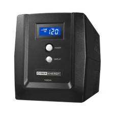 UPS 1500VA Con regulador de voltaje AVR, LCD, 8 contactos, TEL/RED/COAX USB, No-Break, 2 años de Garantía