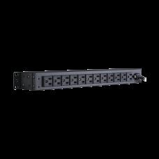 PDU Para Distribución de Energía Básico Con 12 Tomas NEMA 5-15R Traseras y 2 Tomas 5-15R Delanteras de 1U de Rack
