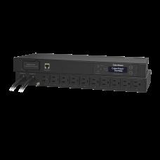 PDU Para Distribución de Energía Medible Con ATS Switch de Fuente Autotransferible y Pantalla LCD, 8 Tomas NEMA 5-15R Traseras y 2 Clavijas NEMA 5-15P
